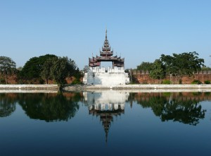 Mandalay - view of the old Palace wall