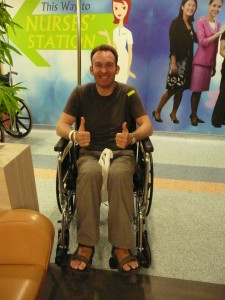Singapore - Keir in hospital (2)